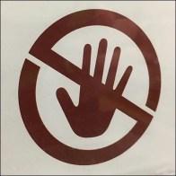 CoronaVirus Don't-Touch-The-Merchandise Sign