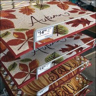 Autumn Welcome Mat Angled Rack
