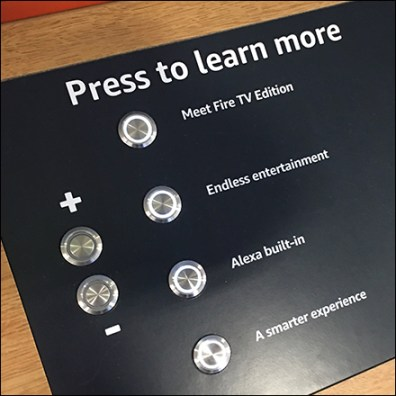 Press-To-Learn Smart TV Demo Display
