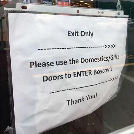 CoronaVirus Informal Exit-Only Sign