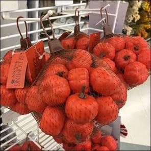 Mesh-Bag Mini Pumpkin Powerwing Display