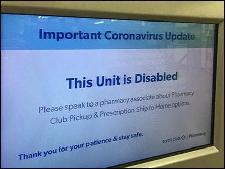 CoronaVirus Digital Disabled Notice