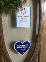 Show Love #ShopSmall Shop Local Sign