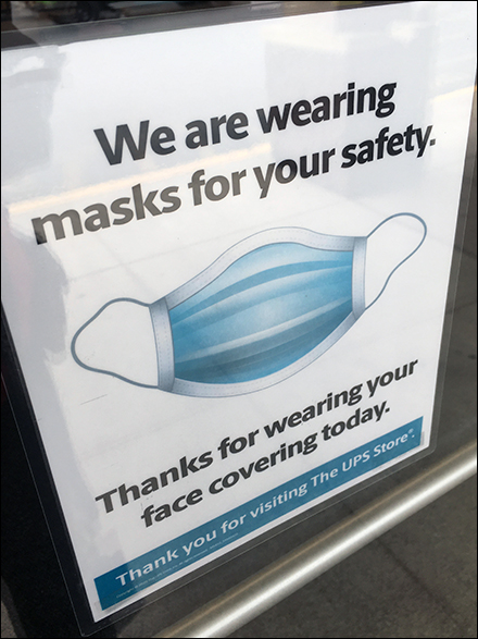 Coronavirus Face Mask Window Decal