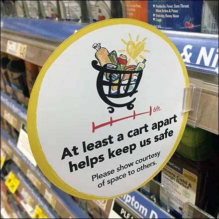 CoronaVirus Cart-Apart Shelf-Edge Promo-Flag