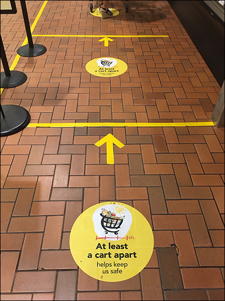 CoronaVirus Tow-the-Line Floor Graphics