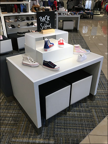 Nordstrom Back-To-School Shoe Island