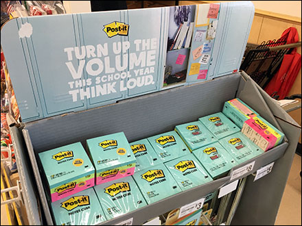 Turn-Up-The-Volume Post-It Note Display