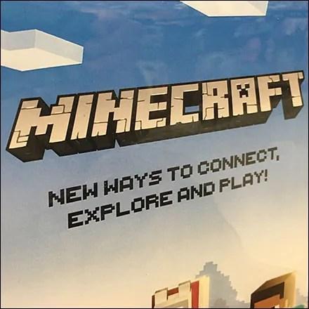 Explore Minecraft Merchandising Display