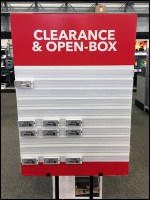 Open-Box Clearance Staging Sign Board