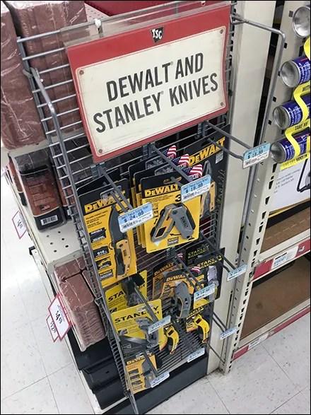 Dewalt-Stanley Knife Powerwing Display