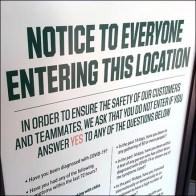 Dick's CoronaVirus Notice to Everyone Entering