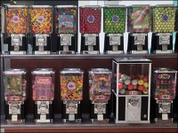 Mall Concourse Ganged Gumball Machine Wall