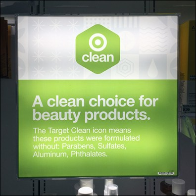 Natural Beauty Clean Choice Display