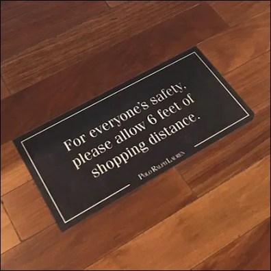 Ralph Lauren CoronaVirus Station-Keeping Floor Graphic