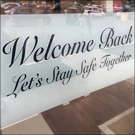 Case Study: Ralph Lauren CoronaVirus Store Strategies - Ralph Lauren Welcome-Back CoronaVirus Greeting