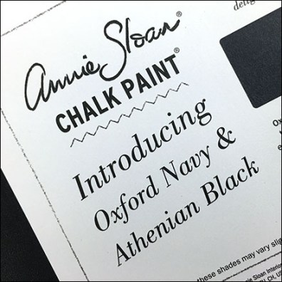 Introducing Chalk Paint Color Postcard