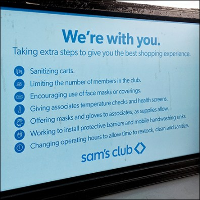Sam's Club CoronaVirus Gas Pump Pledge