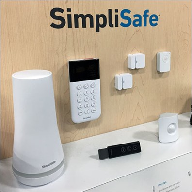 SimpliSafe Security Pallet-Rack Display