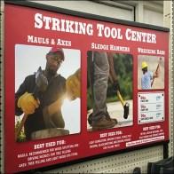 Striking Tools Center Billboard Sign