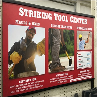 Striking Tools Center Billboard Sign