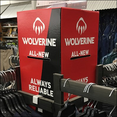 Wolverine Apparel Rack Topper Dimensional