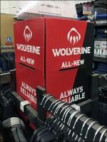 Wolverine Apparel Rack Topper Dimensional