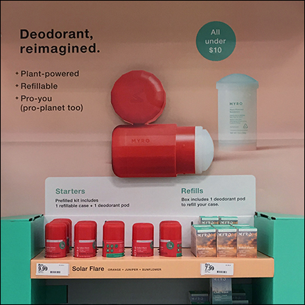 Reimagined Deodorant Endcap Display