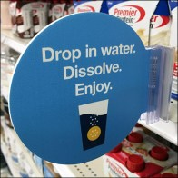 Water-Soluble Shelf-Edge Promo-Flag