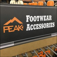 Peak Footwear Accessories Slatwall Endcap