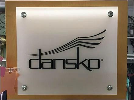 Dansko Shoe Tower Logo Branding
