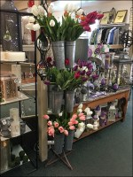 Galvanized Flower Vase Tower Display