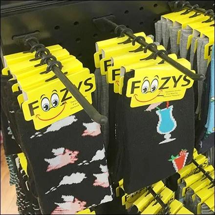 Foozys Socks Plastic-Pegboard Hook Details