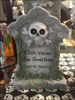 Halloween Claire Voyance Tombstone Quote
