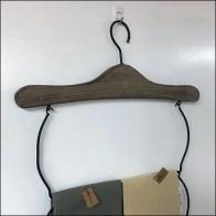Clothes-Hanger Hand-Towel Merchandiser