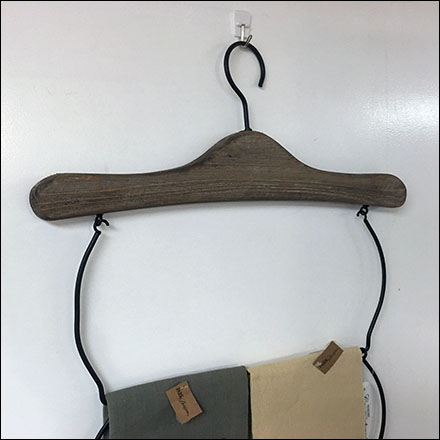 Clothes-Hanger Hand-Towel Merchandiser
