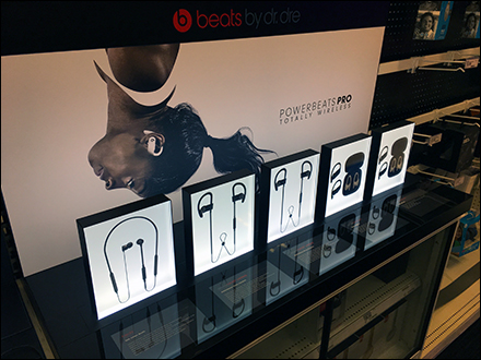 Beats Backlit Earbud Display Frames