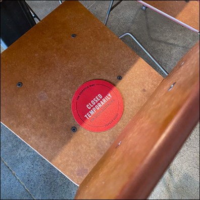 CoronaVirus Restaurant Seating Placeholders