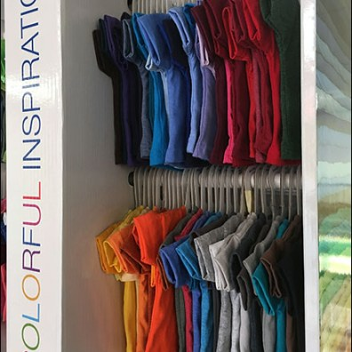 Colorful-Inspiration Miniature T-Shirt Display