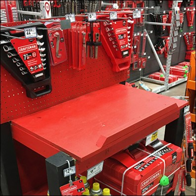 Craftsman Branded Workbench Display