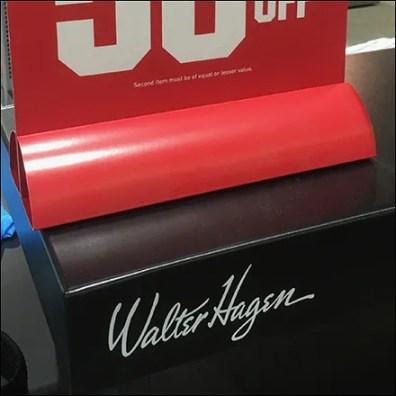 Walter Hagen Heat-Bent Sign Stand
