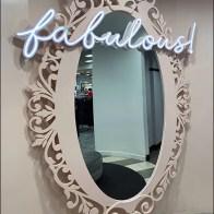 Fabulous Neon Fashion Mirror Outreach