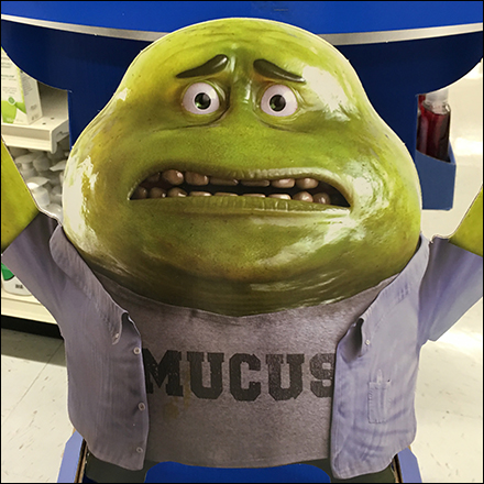 Mucinex Mucus-Mascot Cold Relief Display