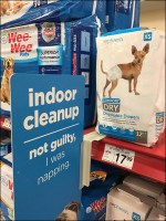 Indoor-Doggy-Cleanup Shelf-Edge Pet Promotion