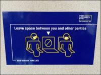 CoronaVirus Public Transit Social-Distancing Notice