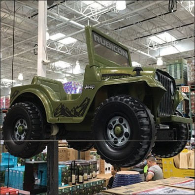 Jeep Rubicon Pallet-Load Merchandising