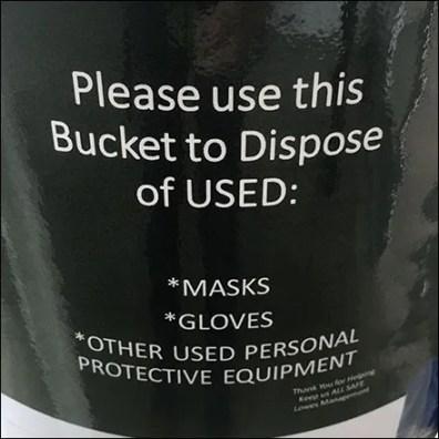 Do-It-Yourself CoronaVirus Mask Disposal Bucket