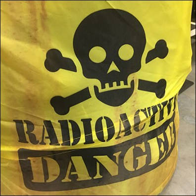 Halloween Pop-Up Radioactive Bone Barrel