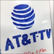 End-Aisle Counter-Top Tripod Easel AT&T Logo