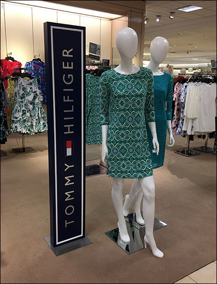Tommy Hilfiger Vertical Branding Stands Tall